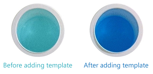 Left: 1X Forget-Me-Not™ Master Mix. Right: 1X Forget-Me-Not™ Master Mix after addition of Forget-Me-Not™ Template Buffer.